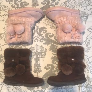 US Polo Assn and Jumping Beans Faux Fur Boots sz 6
